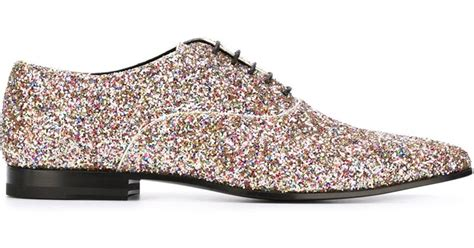 glitter oxford shoes laurent glitter embellished oxford shoes for lyst