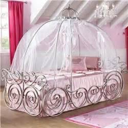 canyon disney princess twin carriage canopy bed  scroll  bow detail bigfurniturewebsite