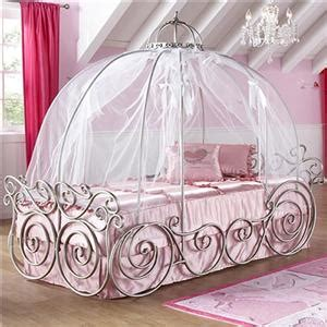 Disney Princess Canopy Bed Disney Princess Carriage Canopy Bed With Scroll And Bow Detail Bigfurniturewebsite