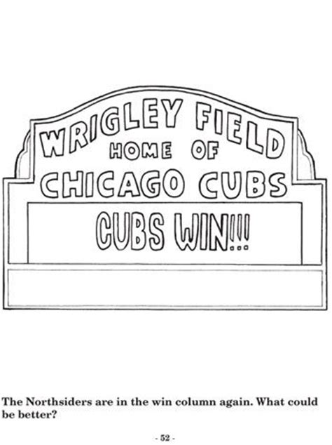 chicago cubs coloring pages my blog