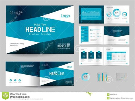 company profile sle design free download business brochure design template and page layout for