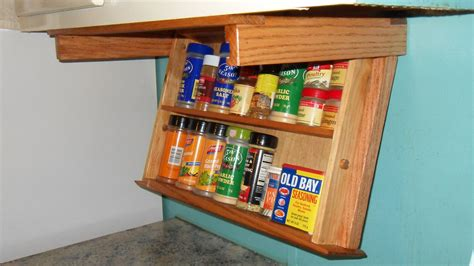 under kitchen cabinet storage drawer under cabinet mount spice rack drawer easily drops down