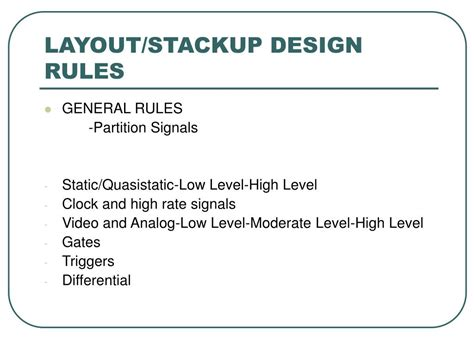 ppt for layout design rules ppt hyperlynx a pwb design tool powerpoint presentation