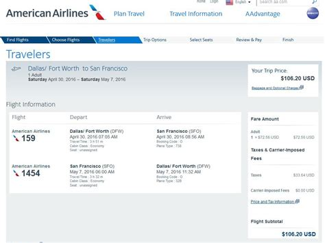 United Airlines Baggage Cost 107 Dallas To From San Francisco Nonstop R T Fly