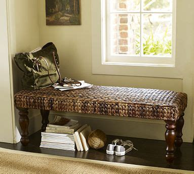 seagrass bench pottery barn seagrass bench havana dark potterybarn for the home