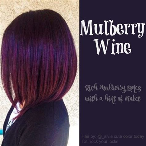 mulberry wine hair color hair wine hair