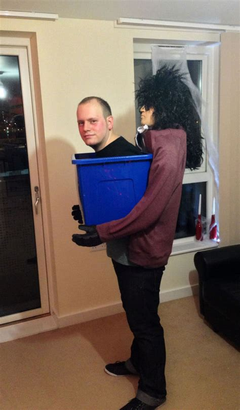 man   box halloween costume  steps  pictures