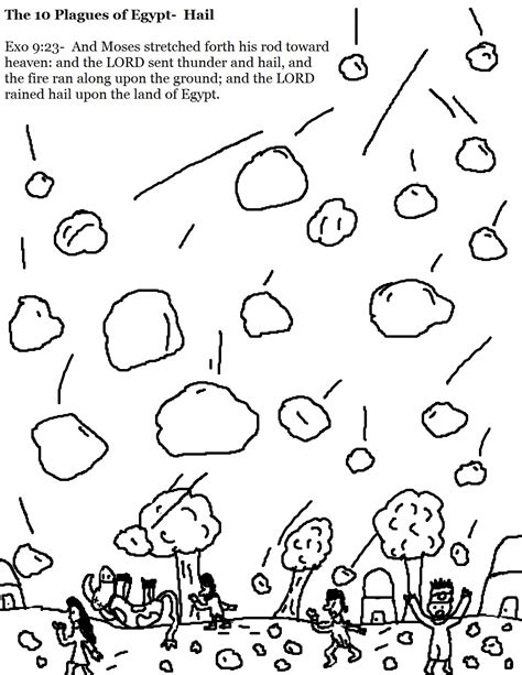 The 10 Plagues Of Egypt Hail Coloring Pages Jpg 1 019 Hail Coloring Pages