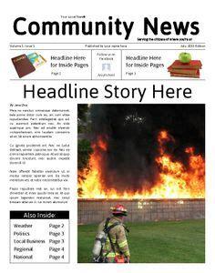 newsletter templates editable class news school