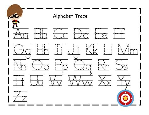 printable alphabet tracing pages preschool printables alphabet tracing sheet from