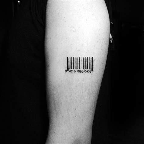 barcode tattoo theme 30 barcode tattoo designs for men parallel line ink ideas