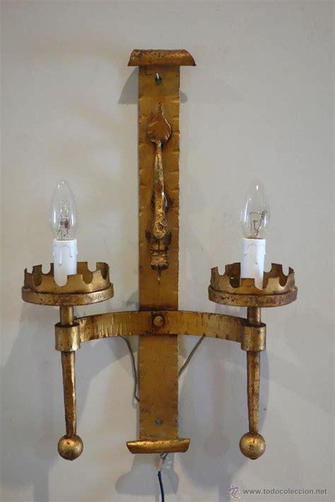 apliques rusticos segunda mano pareja de apliques de hierro forjado dorado pan comprar