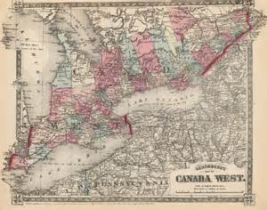 canada west map maps