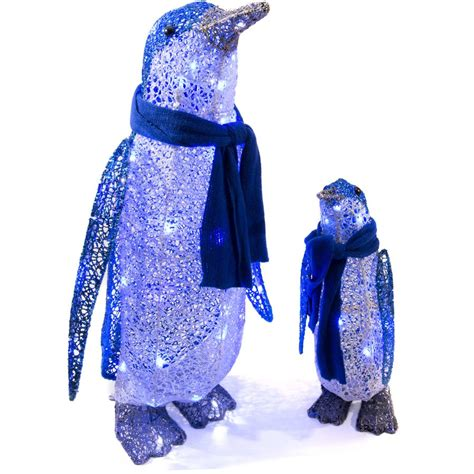 lighted decorations outdoor shop gemmy lighted penguin outdoor decoration