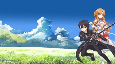 anime full movie anime boys girls fan art kirigaya kazuto landscapes