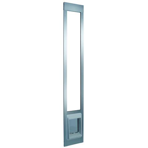 electronic patio pet door silver