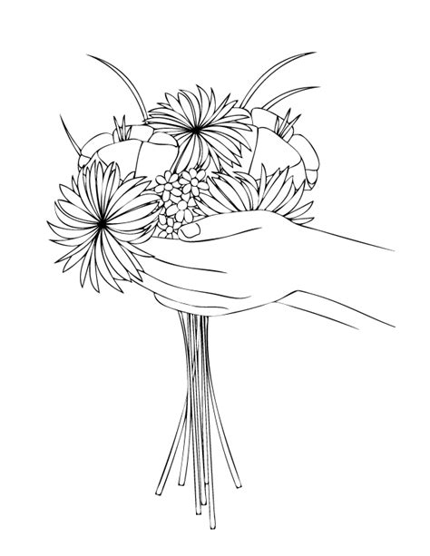 coloring page flower bouquet coloring pages make and takes