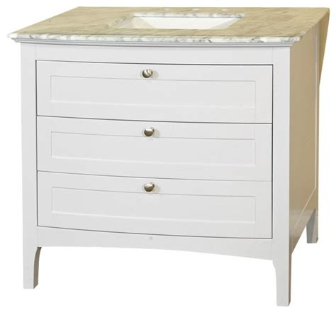 35 inch single sink vanity wood white cabinet only