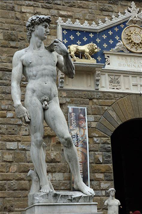 michelangelo david david statue in front of palazzo vecchio flickr photo