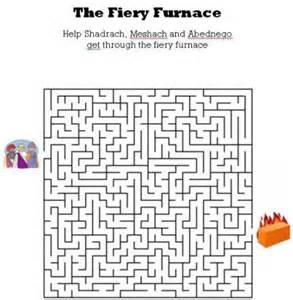 kids bible worksheets free printable the fiery furnance maze