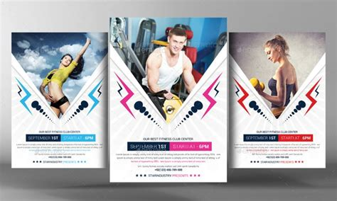 20 fitness flyer template psd for fitness center gym and