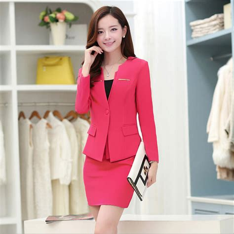 executive suits for working women 2015 2016 executive office lady skirt overalls receptionist