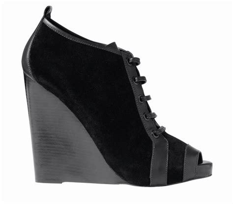 Hardy For Gap Hits Stores Tomorrow by Hardy For Gap Black Suede Wedge Bootie Fall 2010