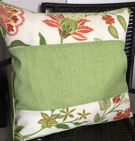 outdoor pillow cover 20 x 20 inch flower pillow cover pink
