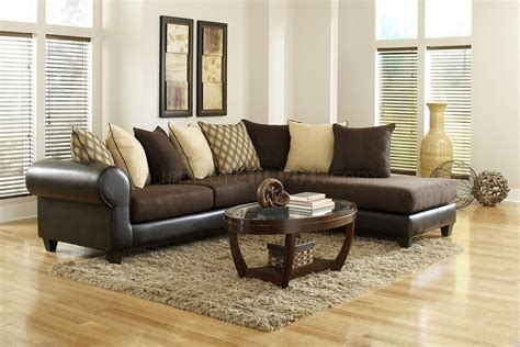 Brown Sectional Sofa Microfiber 4510 Sectional Sofa In Brown Microfiber Bi Cast