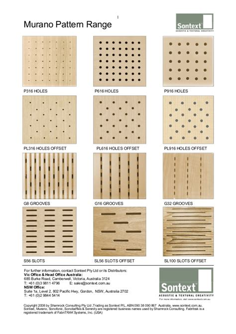 wood pattern names murano acoustic wood panel patterns