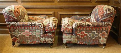 Turkish Sofa Uk by Turkish Kilim Pair Of Lansdown Chairs Kilim Upholstery