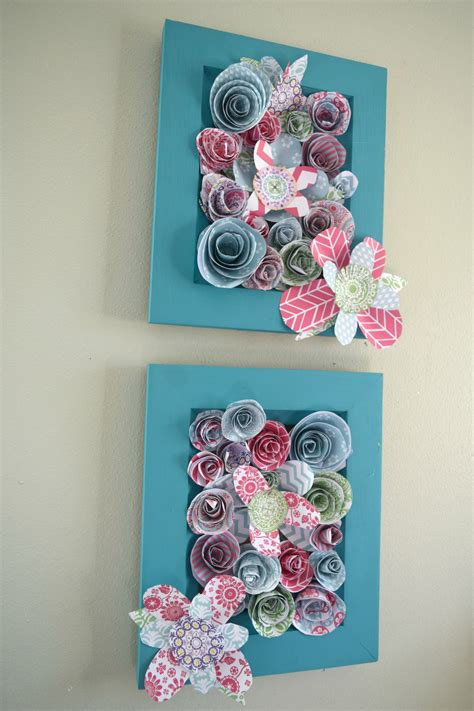 wall art for girl bedroom how to make wall art using paper flowers our house now a home