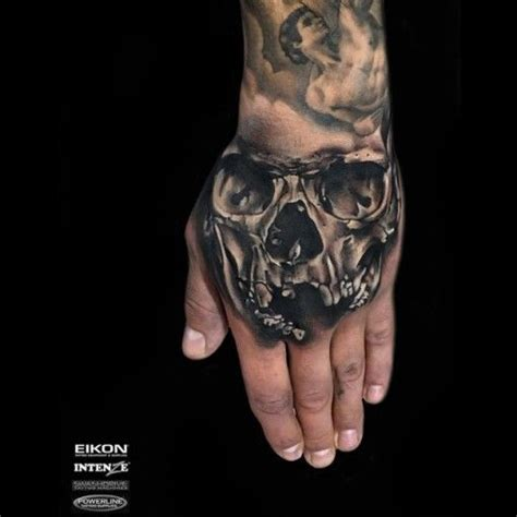 skull tattoos on hands 59 best images on ideas