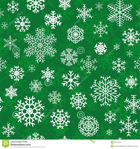christmas pattern green christmas seamless pattern from snowflakes stock vector