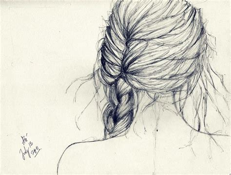 Sketches Hair by Hair Braid Sketch Braids Sketches And