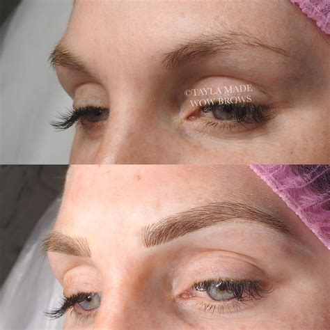 tattoo eyebrows instagram hair stroke feather touch microblading microstroke