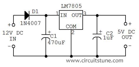 12v to 5v resistor circuit 12v to 5v dc dc converter circuit diagram circuitstune