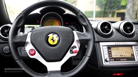 ferrari steering wheel ferrari california review page 2 autoevolution