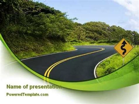 Long And Winding Road Powerpoint Template By Poweredtemplate Com Youtube Microsoft Powerpoint Templates Road