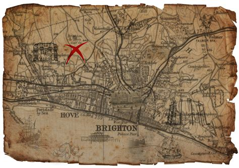 childs treasure map of brighton by pfallows12 on deviantart