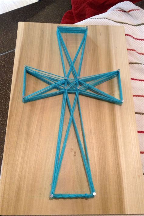 Cross String Art Tammy Kelly For C This Year Church C Activities Pinterest String Cross String Template