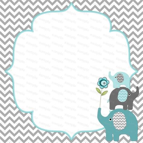 Unavailable Listing On Etsy Elephant Baby Shower Invitations Templates