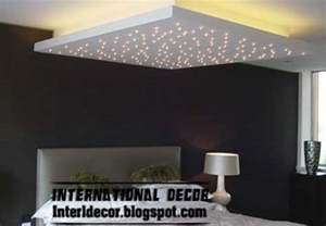 Home Interior Design Led Lights Modern Pop False Ceiling Designs For Bedroom 2017