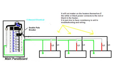 how to wire baseboard heaters in parallel wiring diagram