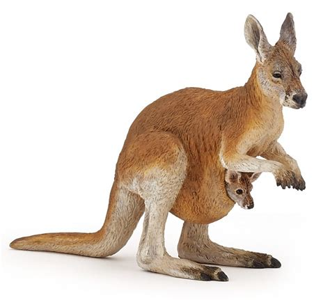 papo animal kingdom papo kangaroo with baby 50188