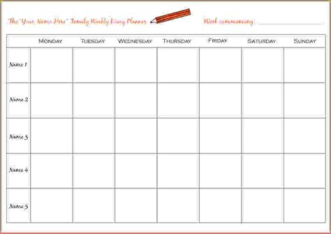 planning online make a weekly calendar templates calendar template 2016