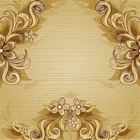 greeting card borders templates floral vector border in style stock vector