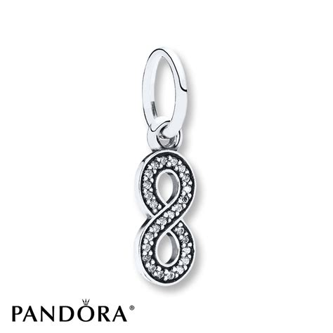 jared pandora dangle charm infinity symbol sterling silver