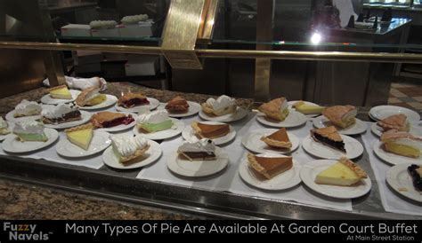 types of for buffet several types of pie are available to be sled at station s buffet fuzzy navels