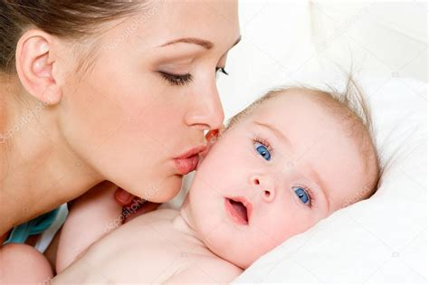 Different Floor Plans happy mother with cute newborn baby stock photo